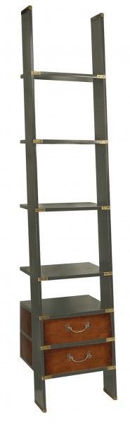LIBRARY LADDER, Gunmetal Grey