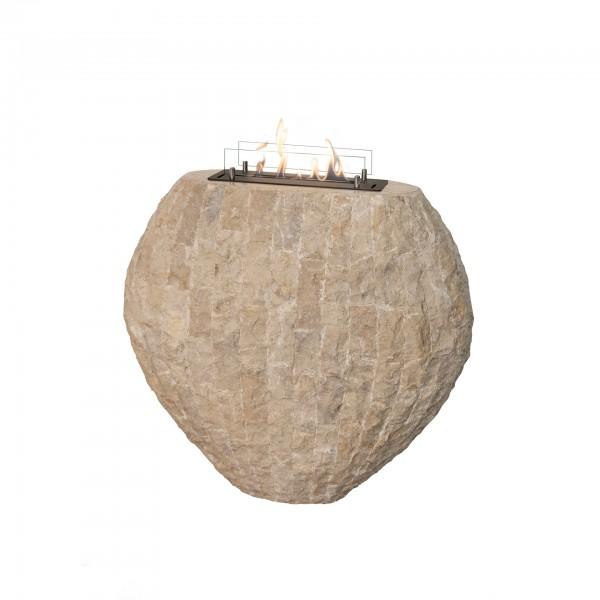 Freistehender  Shigo Vase Xaralyn beige