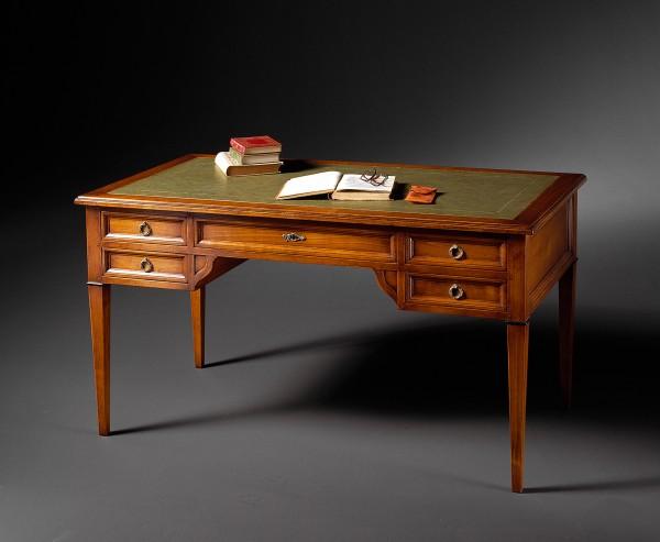 Schreibtisch mit Lederplatte