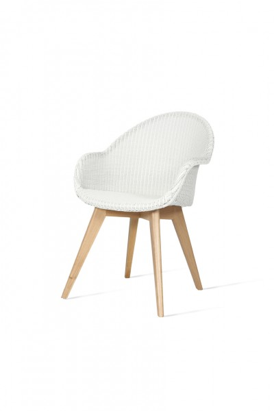 AVRIL HB Dining Chair (Pure White)