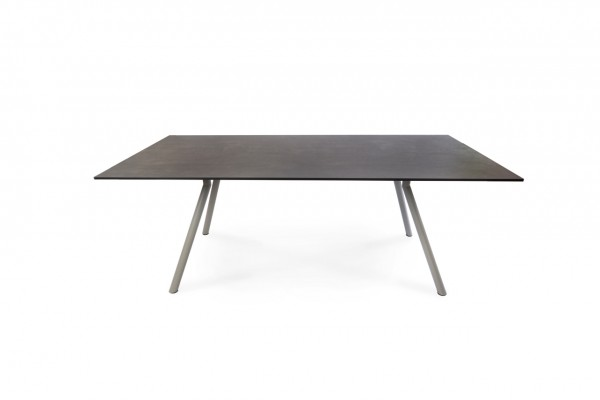 Teso Tisch, Gestell Edelstahl stonegrey matt Strukturlack