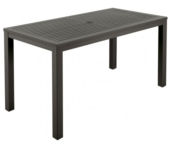 AURA Aluminium Narrow Dining Table 140