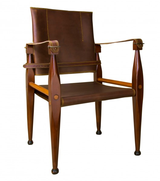 BRIDLE LEATHER CAMPAIGN CHAIR von Authentic Models