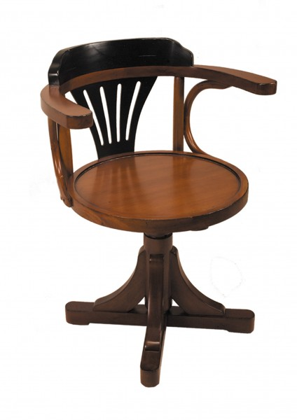 PURSER's CHAIR, Black & Honey von Authentic Models