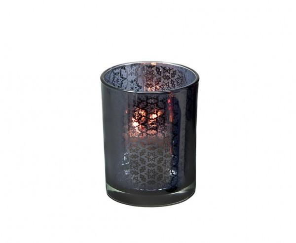 Aluminium vernickelt 4er Set Kerzenpin Kerzenstecker Stern Weihnachtsstern Höh